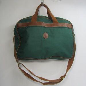 Polo Ralph Lauren Green Brown Weekend Bag Luggage